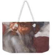 Sistine Chapel Ceiling Creation Of The Sun And Moon Weekender Tote Bag by Michelangelo Buonarroti