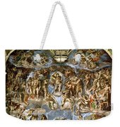 Sistine Chapel The Last Judgement, 1538-41 Fresco Pre-restoration Weekender Tote Bag
