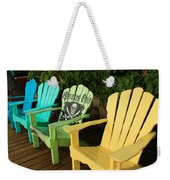 Sit At Your Own Risk Weekender Tote Bag