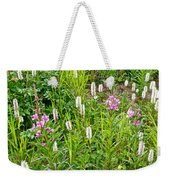 Sitka Burnet And Tall Fireweed In Katmai National Preserve-ak Weekender Tote Bag