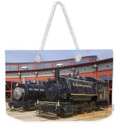 Sitting At The Roundhouse Weekender Tote Bag