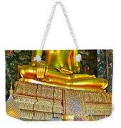 Sitting Buddha In Wat Suthat In Bangkok-thailand Weekender Tote Bag
