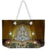 sitting Buddha made from one single marble block in KYAUKTAWGYI PAGODA Weekender Tote Bag