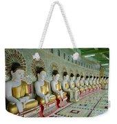 sitting Buddhas in Umin Thonze Pagoda Weekender Tote Bag
