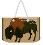 Sitting Bull Buffalo Weekender Tote Bag