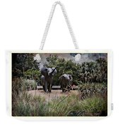 Sitting By The Elephants Weekender Tote Bag