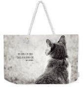 Sitting Cat Weekender Tote Bag