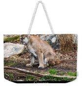 sitting Cougar Weekender Tote Bag