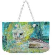 Sitting Lion Oil Portrait Weekender Tote Bag