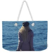 Sitting On Suitcase Weekender Tote Bag by Joana Kruse