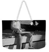 Sitting On The Front Of The Stage 1977 Weekender Tote Bag