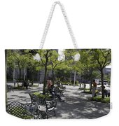 Sitting Place Inside Suntec City In Singapore Weekender Tote Bag