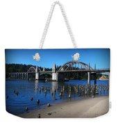 Siuslaw River Bridge Oregon Weekender Tote Bag