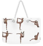 Six Different Views Of Dancer Yoga Pose Weekender Tote Bag