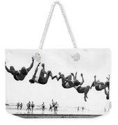 Six Men Doing Beach Flips Weekender Tote Bag