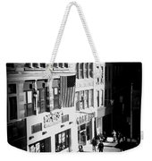 Six O'clock On The Street - Black And White Weekender Tote Bag