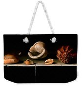 Six Shells On A Stone Shelf Weekender Tote Bag