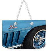 Sixty Six Corvette Roadster Weekender Tote Bag by Frozen in Time Fine Art Photography