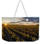 Skagit Daffodils Sunset Sunstar Weekender Tote Bag