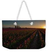 Skagit Dusk Tulip Fields Weekender Tote Bag