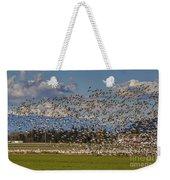 Skagit Snow Geese Liftoff Weekender Tote Bag
