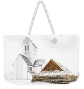 Skalholt Church Weekender Tote Bag