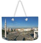 Skanderberg Square In Tirana Albania Weekender Tote Bag