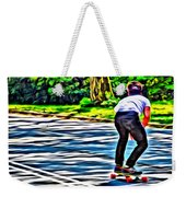 Skateboarder In Central Park Weekender Tote Bag