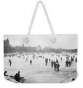 Skating In Central Park Weekender Tote Bag