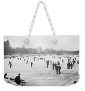 Skating In Central Park Weekender Tote Bag by Anonymous
