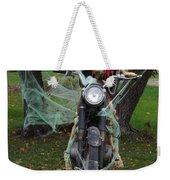 Skeleton Biker On Motorcycle  Weekender Tote Bag
