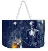 Skeleton With Jack O Lantern Weekender Tote Bag