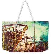 Skeletons In The Yard - Boatbuilding In Ecuador Weekender Tote Bag