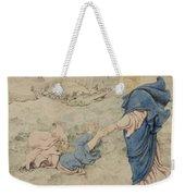 Sketch Of Christ Walking On Water Weekender Tote Bag by Richard Dadd