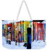 Adventure Ski Weekender Tote Bag