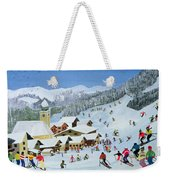 Ski Whizzz Weekender Tote Bag by Judy Joel