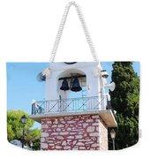 Skiathos Clock Tower Weekender Tote Bag