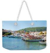 Skiathos Town Harbour Weekender Tote Bag