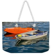 Skiffs At The Harbour Weekender Tote Bag