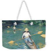 Skiffs Weekender Tote Bag by Gustave Caillebotte