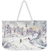 Skiing In The Dolomites In Italy 01 Weekender Tote Bag