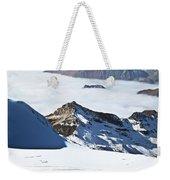 Skiing Down A Storm Weekender Tote Bag