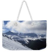 Skiing With A View Weekender Tote Bag by Fiona Kennard