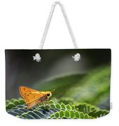 Skipper Butterfly On Mimosa Leaf Weekender Tote Bag