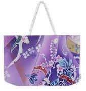 Skiyu Purple Robe Crop Weekender Tote Bag