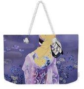 Skiyu Purple Robe Weekender Tote Bag by Haruyo Morita