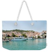 Skopelos Harbour Greece Weekender Tote Bag