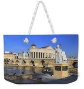 Skopje City Center Macedonia Weekender Tote Bag