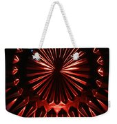 Skc 0285 Cut Glass Plate In Red And Blue Weekender Tote Bag