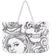Skull And Roses Weekender Tote Bag